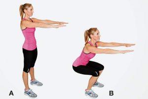exercices abdos fessiers : les squats