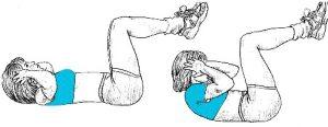 exercice abdo fessier : les crunchs