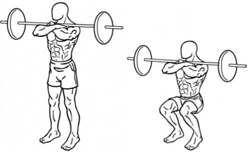front squat - squat avant